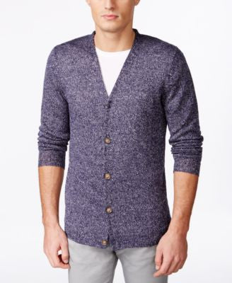 Tasso Elba Men's Linen Heathered Cardigan, Only at Vogily