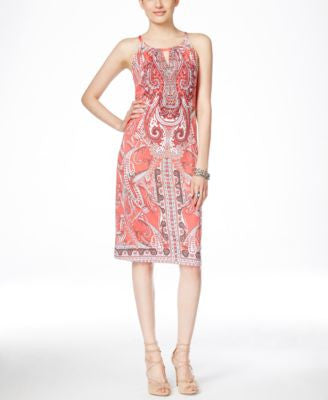 INC International Concepts Embellished Keyhole Sheath Dress, Only at Vogily