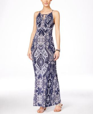 INC International Concepts Embellished Keyhole Maxi Dress, Only at Vogily