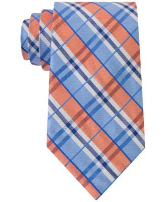 Club Room Men's Seashore Plaid Classic Tie, Only at Vogily