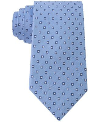 Club Room Men's Beach Box-Print Classic Tie, Only at Vogily
