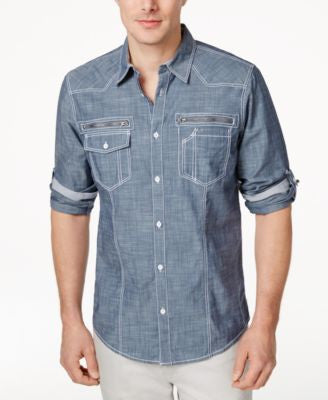 INC International Concepts Men's Long Sleeve Jeff Shirt, Only at Vogily