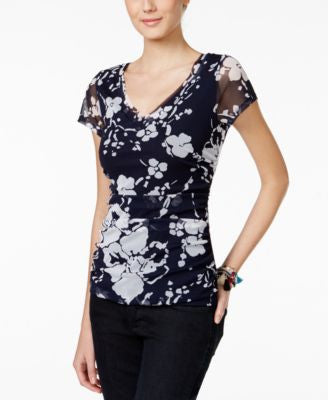 INC International Concepts Floral-Print Top, Only at Vogily