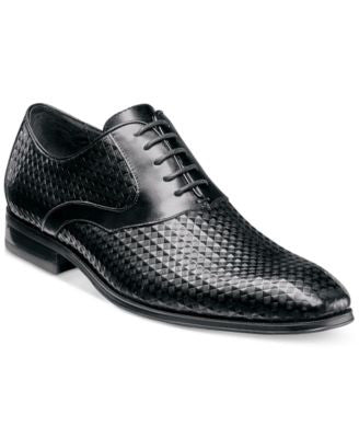 Stacy Adams Men's Fidello Diamond Print Oxfords