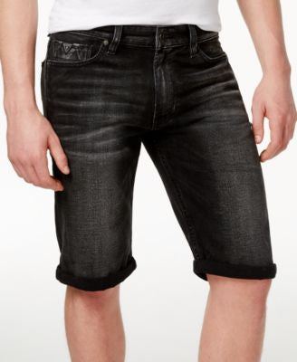 GUESS Men's Regular-Fit Detour-Wash Denim Shorts