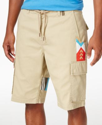 LRG Men's Paddle Team Graphic-Print Cargo Shorts