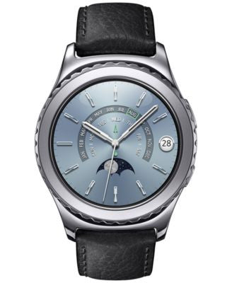Samsung Unisex Gear S2 Classic Black Leather Strap Smartwatch 40mm SM-R7320WDAXAR