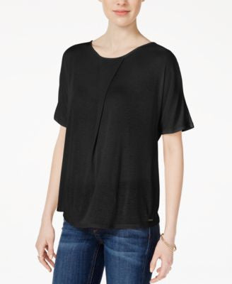 Armani Exchange Short-Sleeve Jersey Top