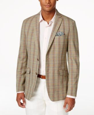 Tallia Men's Slim-Fit Viking Plaid Sport Coat
