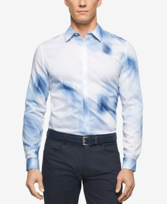 Calvin Klein Men's Long Sleeve Printed Shirt