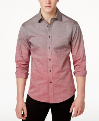 Vince Camuto Men's Ombre Button-Front Shirt