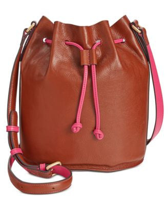 Vera Bradley Bucket Leather Crossbody