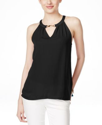 INC International Concepts Petite Embellished Halter Top, Only at Vogily