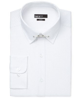 Bar III Slim-Fit Bold Black Stripe Dress Shirt with Collar Bar