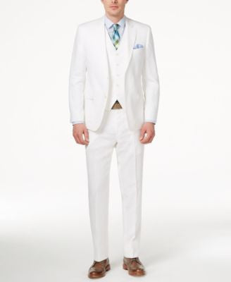 Lauren Ralph Lauren Men's Slim-Fit White Linen Vested Suit