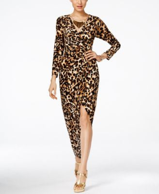 Thalia Sodi Embellished Printed Wrap Maxi Dress, Only at Vogily