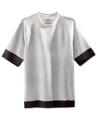 American Rag Men's Mix-Media Raglan-Sleeve Sweatshirt