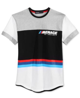 Hudson NYC Men's Menace Colorblocked Stripe Logo T-Shirt