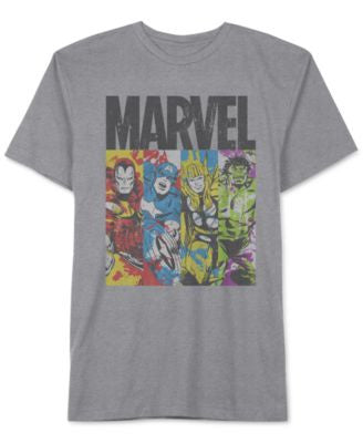 Jem Men's Big & Tall Marvel Avengers Panels Graphic-Print T-Shirt