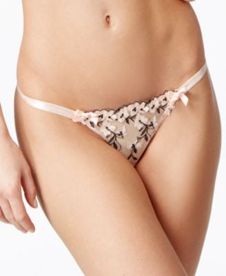 L'Agent by Agent Provocateur Kaity Embroidered Thong L125-32