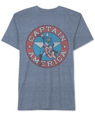 Jem Men's Big & Tall Marvel Captain America Graphic-Print T-Shirt
