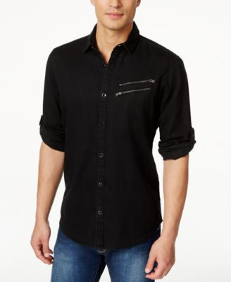 INC International Concepts Men's Long Sleeve Germain Shirt, Only at Vogily