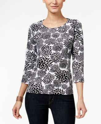Charter Club Petite Floral-Print Top, Only at Vogily