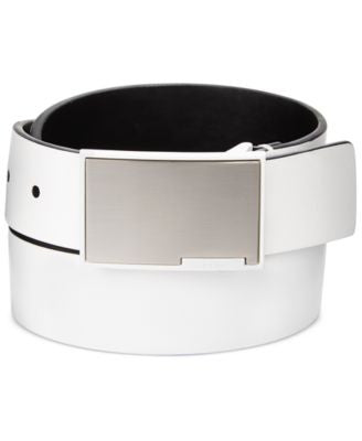 Calvin Klein Men's Plaque Belt