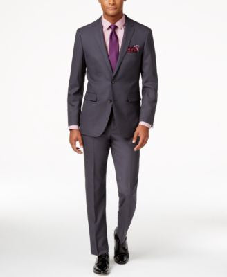 Vince Camuto Men's Slim-Fit Dusty Charcoal Suit