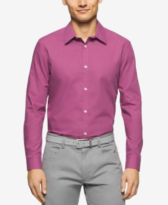 Calvin Klein Men's Cool Tech Mini-Check Shirt