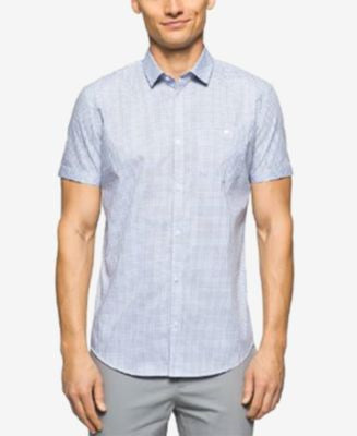 Calvin Klein Men's Short Sleeve Jaspe Check Shirt