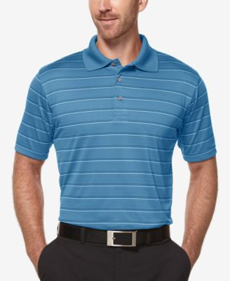 PGA TOUR Men's AirFlux Striped Performance Polo