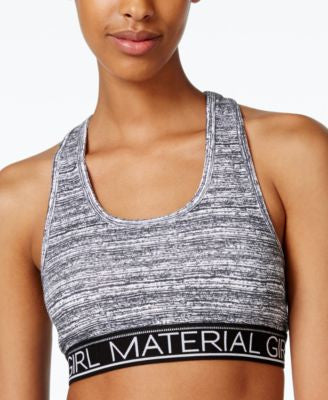 Material Girl Active Juniors' Low-Impact Racerback Sports Bra, Only at Vogily