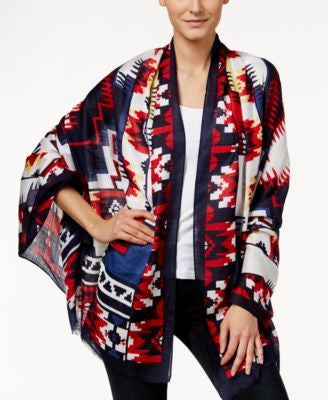 Echo Graphic Ikat Oblong Scarf