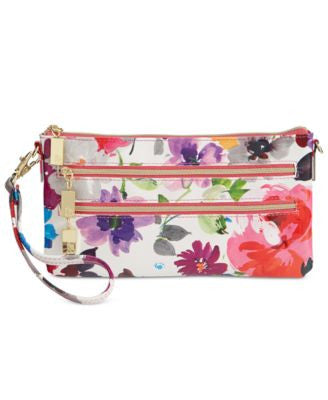 Style & Co. Floral Mini Convertible Wristlet Crossbody, Only at Vogily