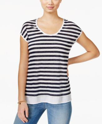Tommy Hilfiger Striped Scoop-Neck Top