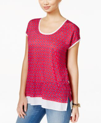 Tommy Hilfiger Printed Scoop-Neck T-Shirt