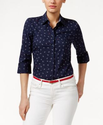 Tommy Hilfiger Anchor-Print Shirt