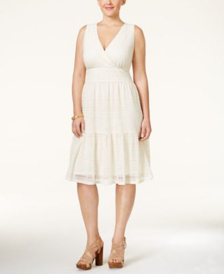Style & Co. Plus Size Lace A-Line Dress, Only at Vogily