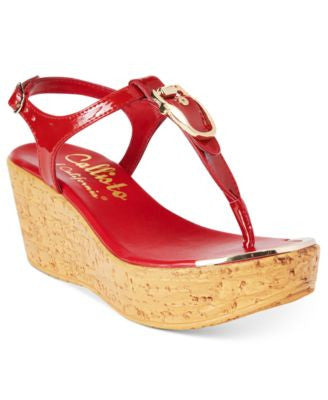 Callisto Barton Wedge Sandals