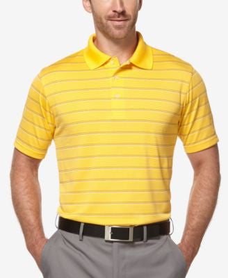 PGA TOUR Men's AirFlux Striped Golf Polo