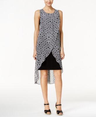 Style & Co. Printed Tulip-Hem Dress, Only at Vogily