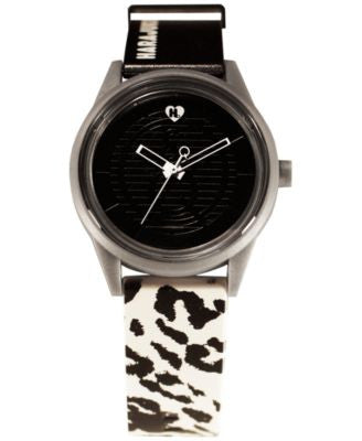 Harajuku Lovers Unisex Black & White Designed by Gwen Stefani Printed Strap Watch 40mm HL2620