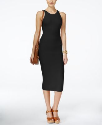 MICHAEL Michael Kors Sleeveless Jacquard Bodycon Sweater Dress