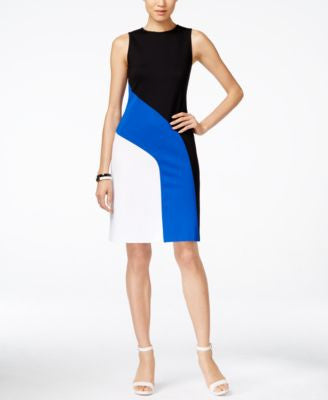 MICHAEL Michael Kors Petite Colorblocked Sheath Dress