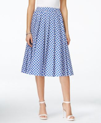 MICHAEL Michael Kors Petite Printed Pull-On A-Line Skirt