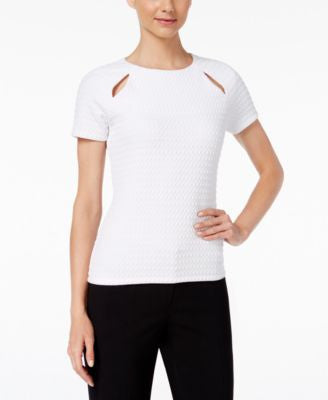 MICHAEL Michael Kors Textured Cutout Top
