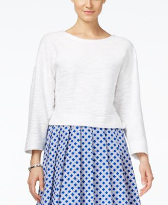 MICHAEL Michael Kors Three-Quarter-Sleeve Jacquard Top