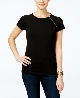 MICHAEL Michael Kors Zip-Trim T-Shirt