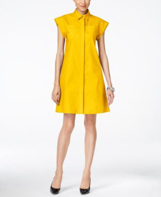 MICHAEL Michael Kors Short-Sleeve A-Line Shirtdress